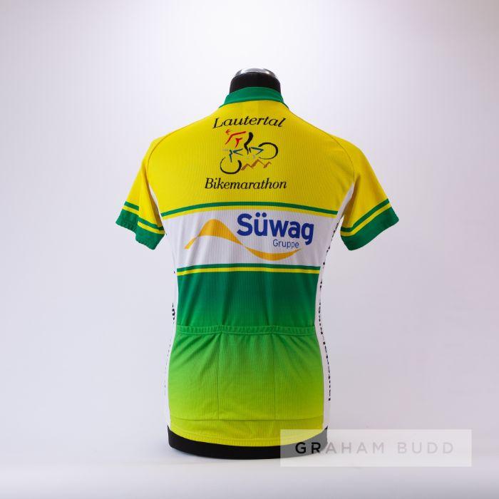 2008 green, yellow and white Maish Lautertal Spiegelberg marathon Cycling race jersey, scarce, - Image 2 of 4