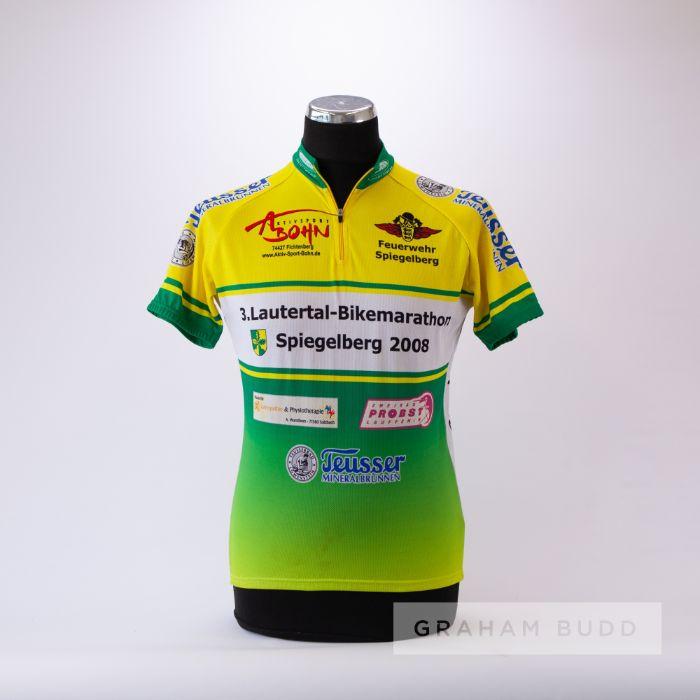 2008 green, yellow and white Maish Lautertal Spiegelberg marathon Cycling race jersey, scarce,