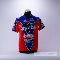 1992 blue, red and black Italian Kona Cycling race jersey, scarce, polyester short-sleeved jersey