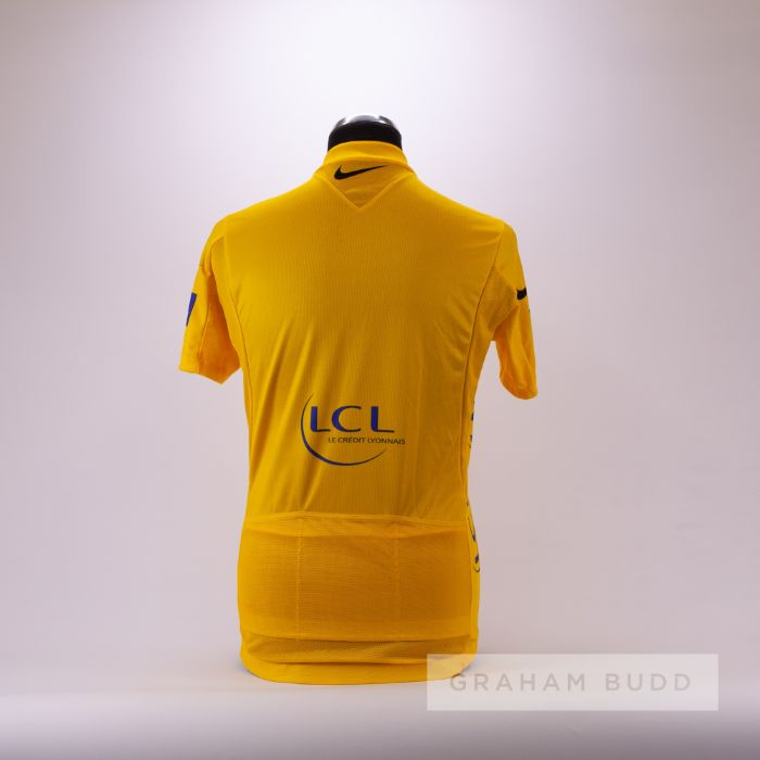 2006 yellow and blue Tour de France Nike LCL Leaders Cycling race jersey, scarce, polyester short- - Image 2 of 4