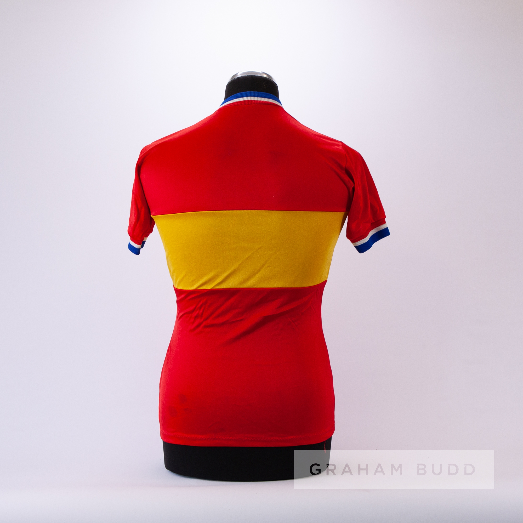 1971 red and yellow vintage Italian De Rigueur Cycling track and trial race jersey, scarce, - Image 2 of 2