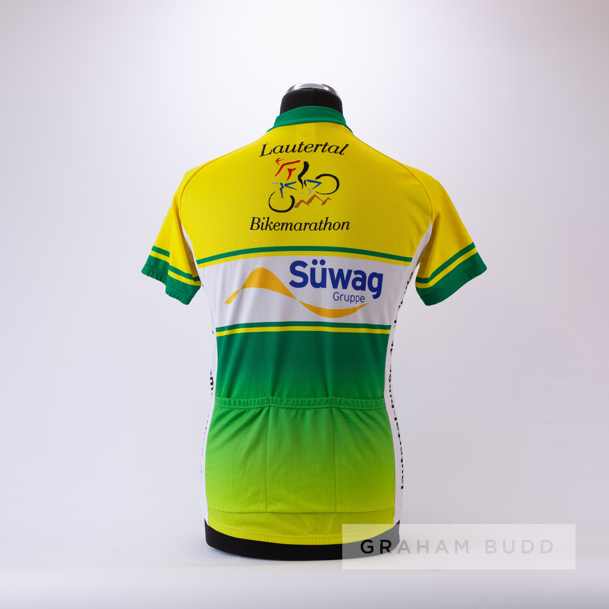 2008 green, yellow and white Maish Lautertal Spiegelberg marathon Cycling race jersey, scarce, - Image 4 of 4