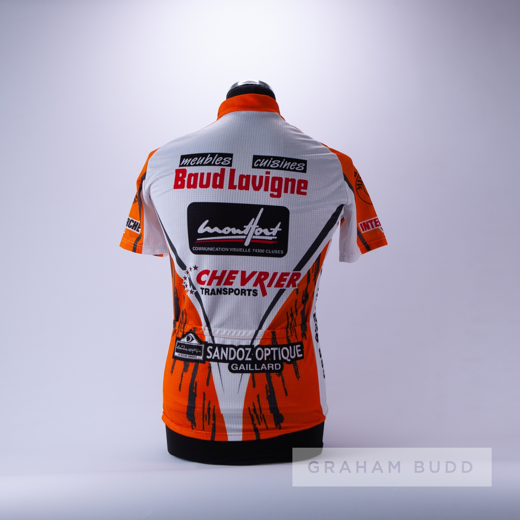 2004 orange, white and black French Cycling race jersey, scarce, polyester short-sleeved jersey with - Image 4 of 4