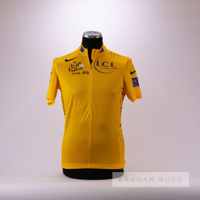 2006 yellow and blue Tour de France Nike LCL Leaders Cycling race jersey, scarce, polyester short-