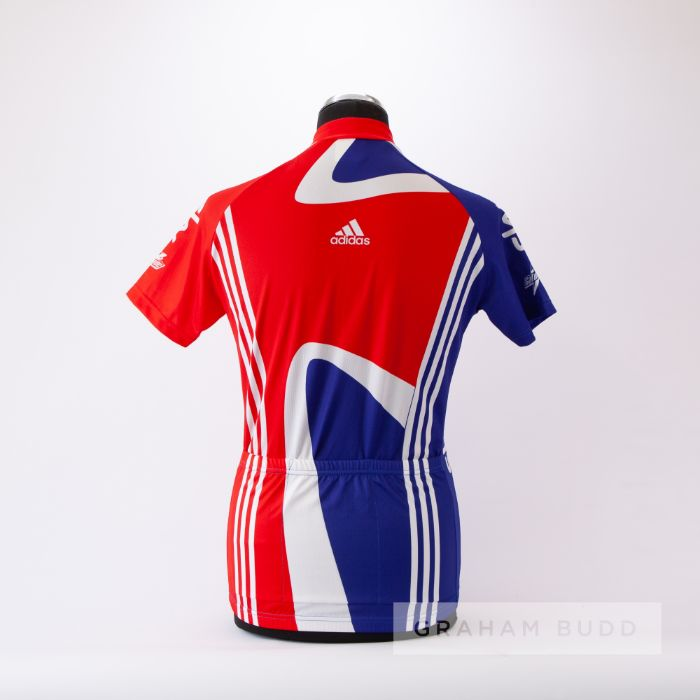 2011 red, white and blue Great Britain Adidas Sky Cycling race jersey, scarce, polyester short- - Image 2 of 4
