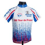2000 white, red and blue Italian Biemme Radio Spares Tour de France Cycling race jersey, scarce,