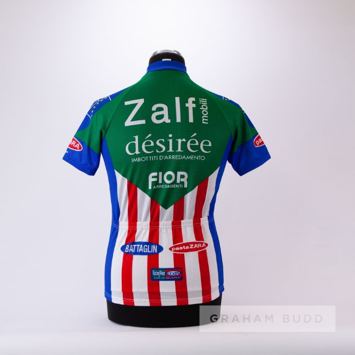 1985 green, blue, red and white Italian Zalf Desiree Fior MSTNA Cycling race jersey, scarce, - Image 2 of 4