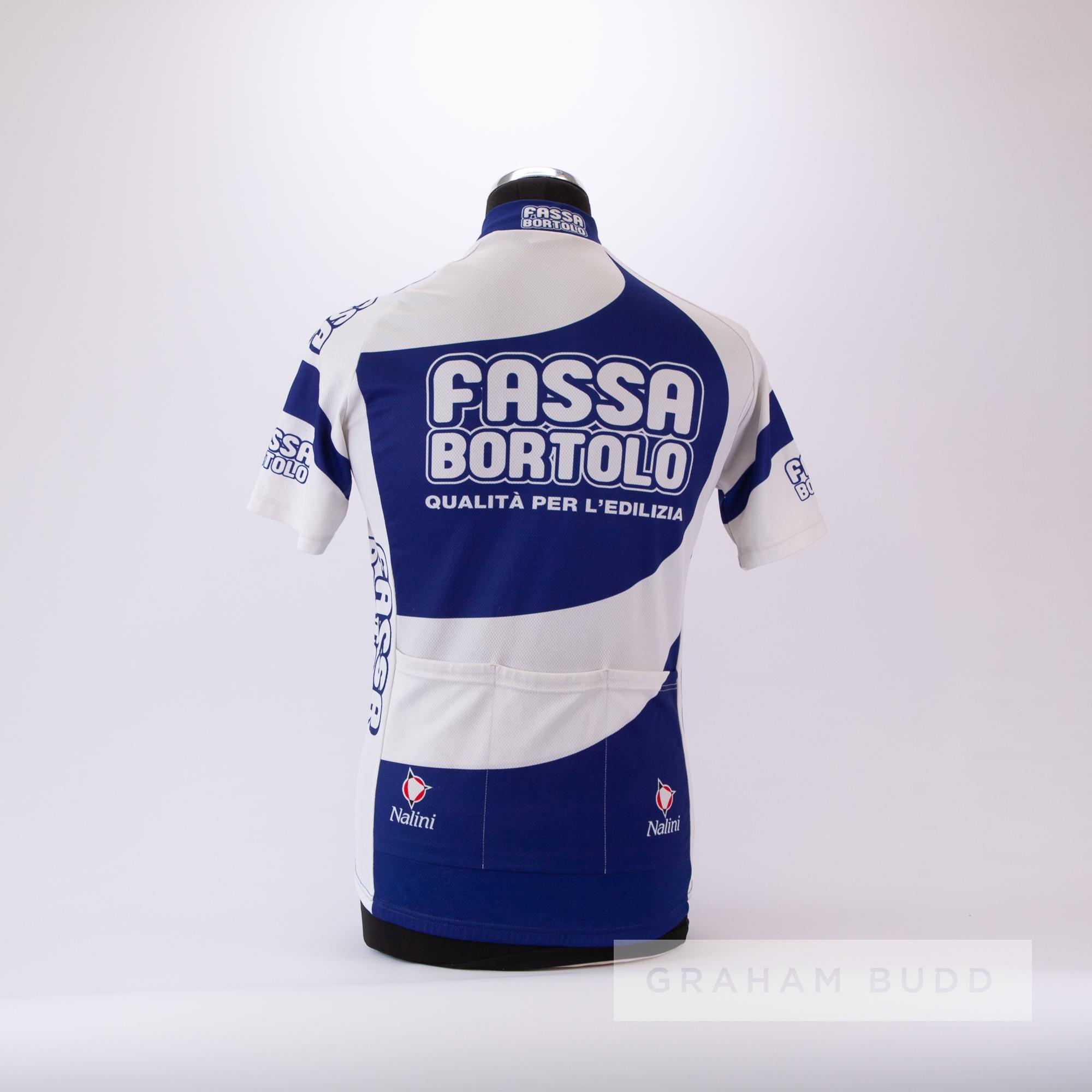 2000 white and blue Italian Fassa Bortolo Cycling race jersey, scarce, polyester short-sleeved - Image 4 of 4
