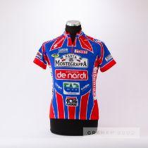 1999 red, white and blue Italian Team De Nardi Pasta, Pasta Montegrappa Cycling race jersey, scarce,