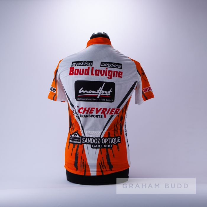 2004 orange, white and black French Cycling race jersey, scarce, polyester short-sleeved jersey with - Image 2 of 4