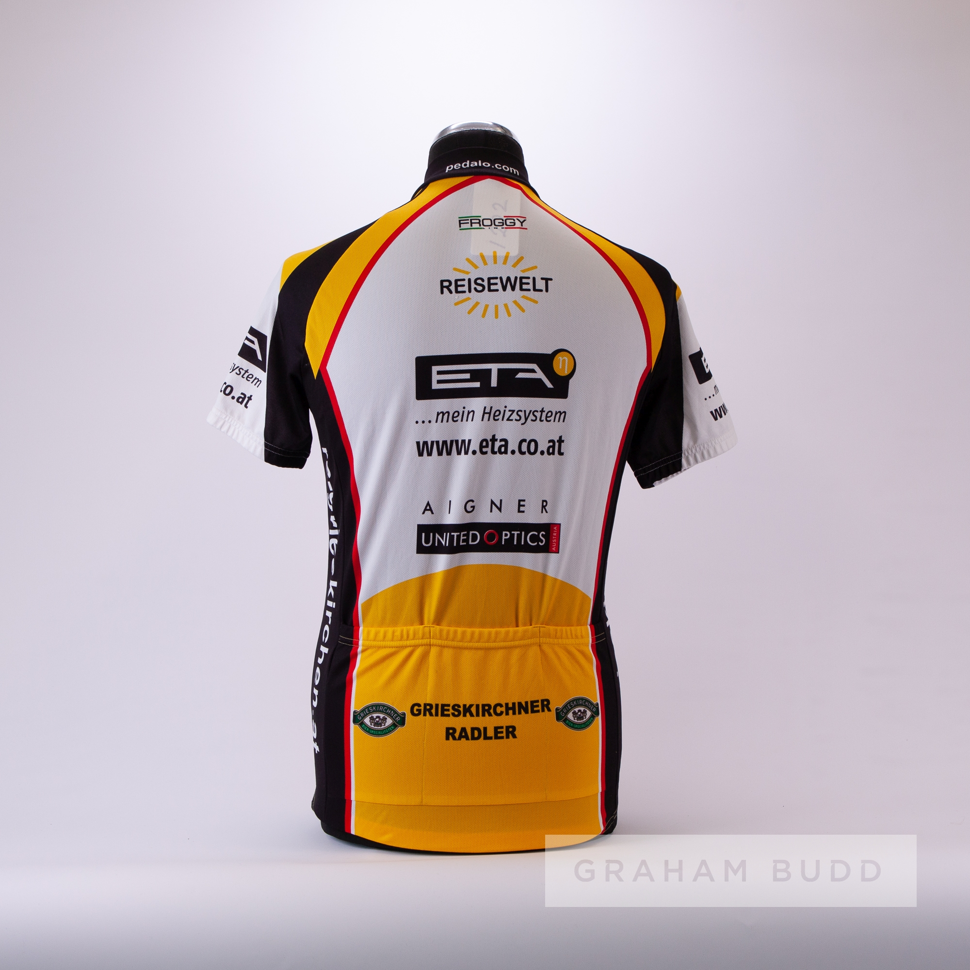 1992 white, black, red and gold Grieskirchen Radler Cycling road race jersey, scarce, polyester - Image 4 of 4
