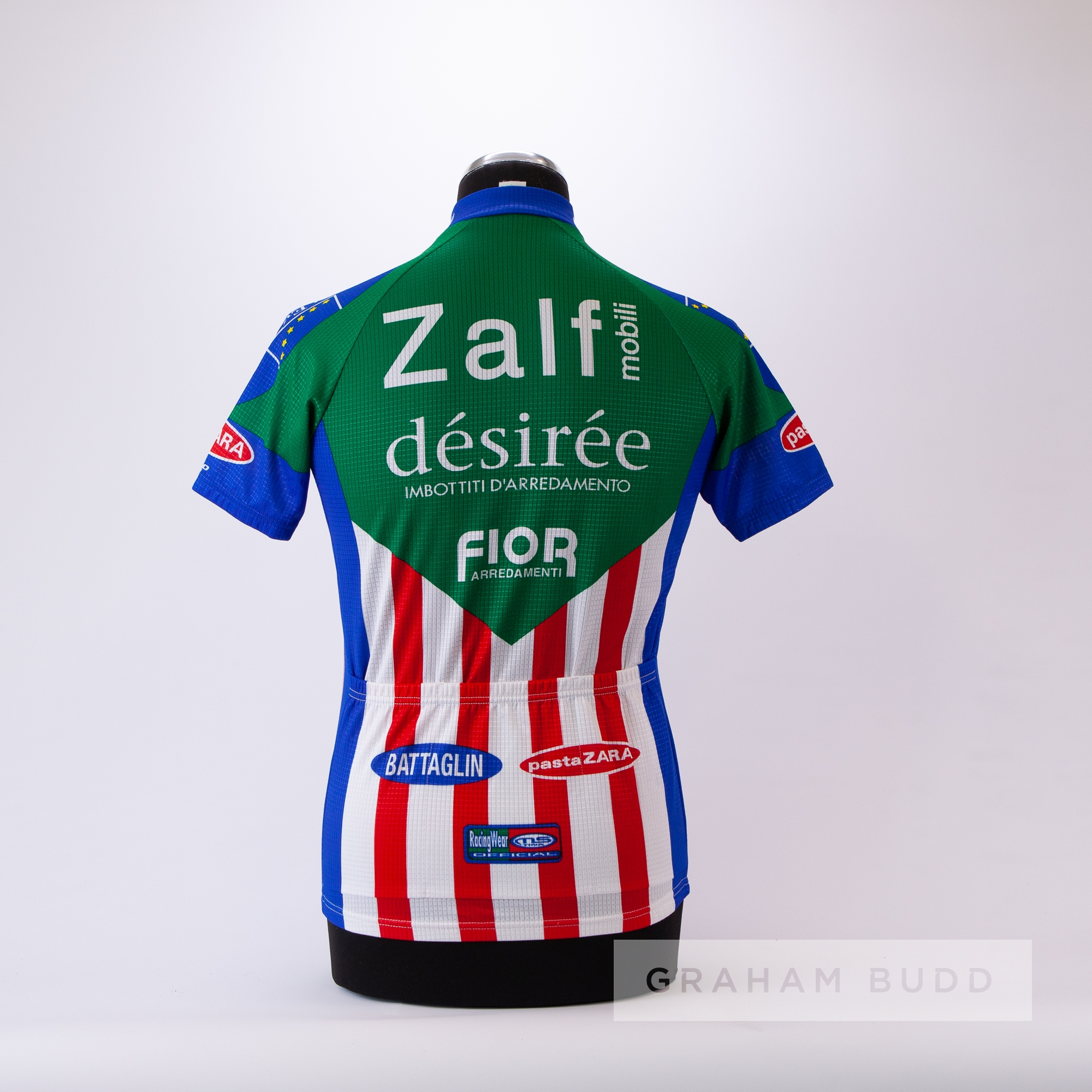 1985 green, blue, red and white Italian Zalf Desiree Fior MSTNA Cycling race jersey, scarce, - Image 4 of 4