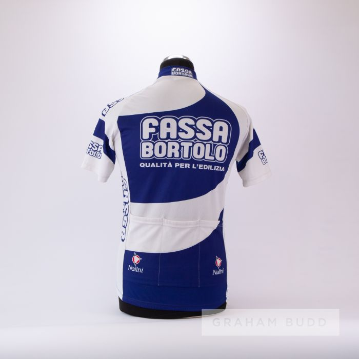 2000 white and blue Italian Fassa Bortolo Cycling race jersey, scarce, polyester short-sleeved - Image 2 of 4