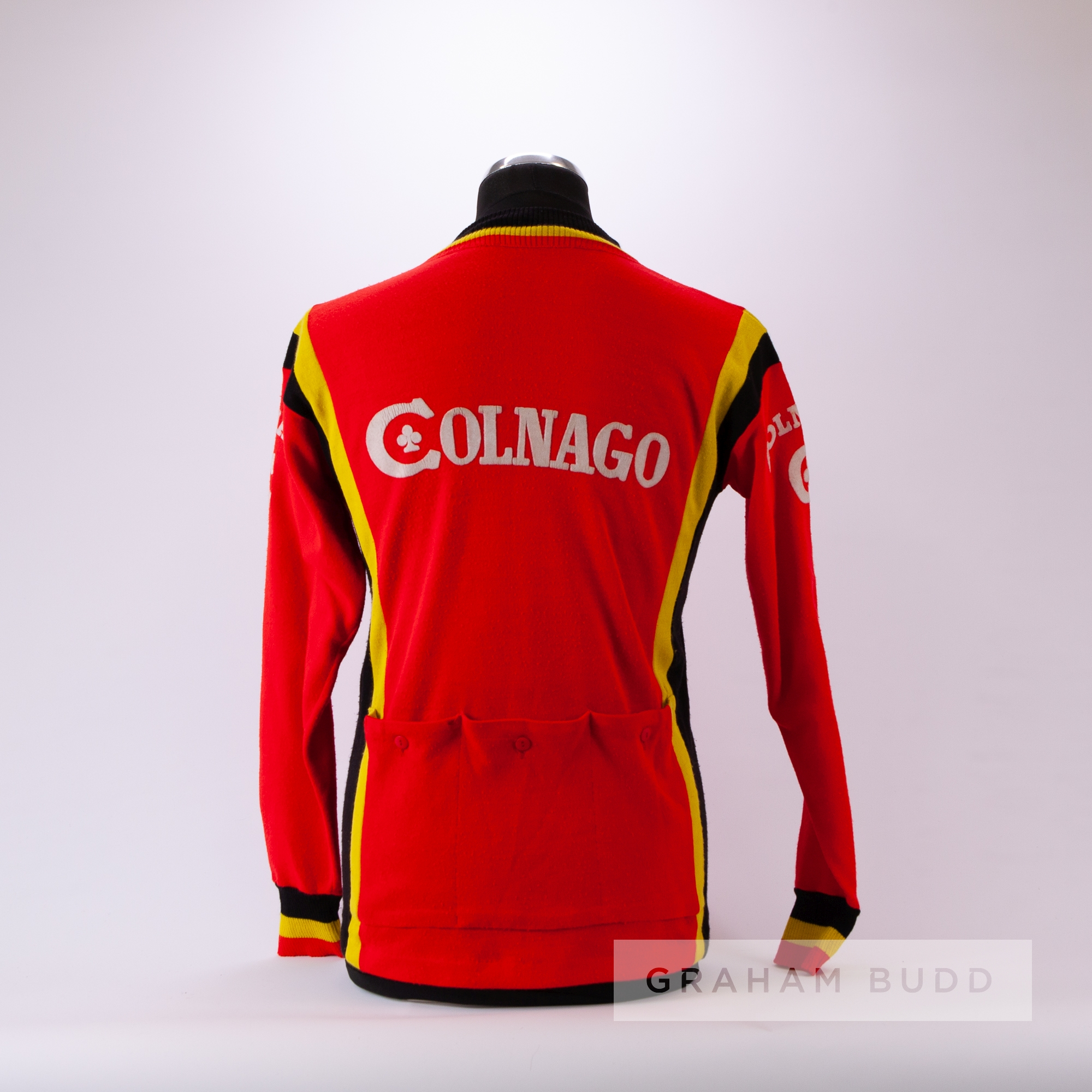 1977 red, yellow and black vintage Italian Colnago Eroica Cycling race/tour jersey, scarce, - Image 4 of 4