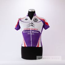 2001 white, red and purple Vermarc Cyclo Naninne Citroen Cycling race jersey, scarce, polyester