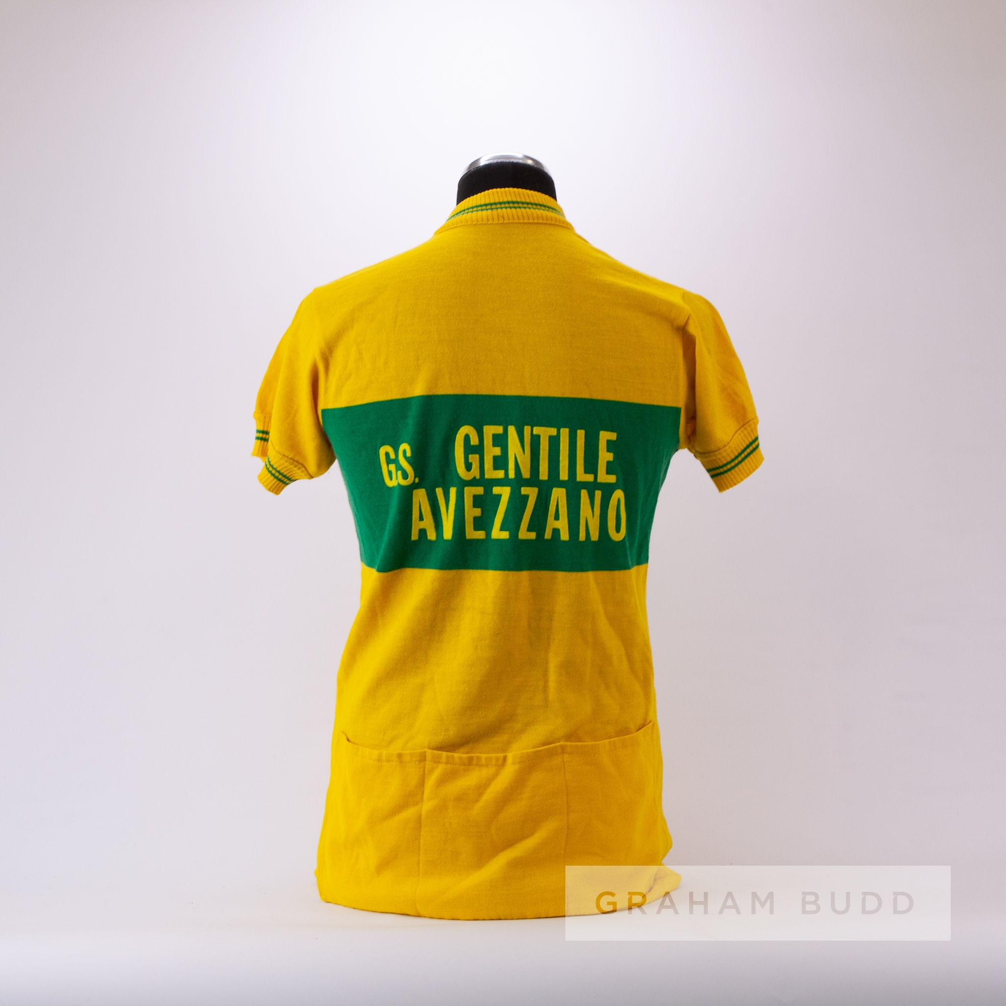 1975 yellow and green vintage Avezzano Cycling race jersey, scarce, wool and acrylic short-sleeved - Image 4 of 4