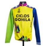 2005 yellow, green, purple and navy Spanish Cycling team race jersey, scarce, cotton and polyester