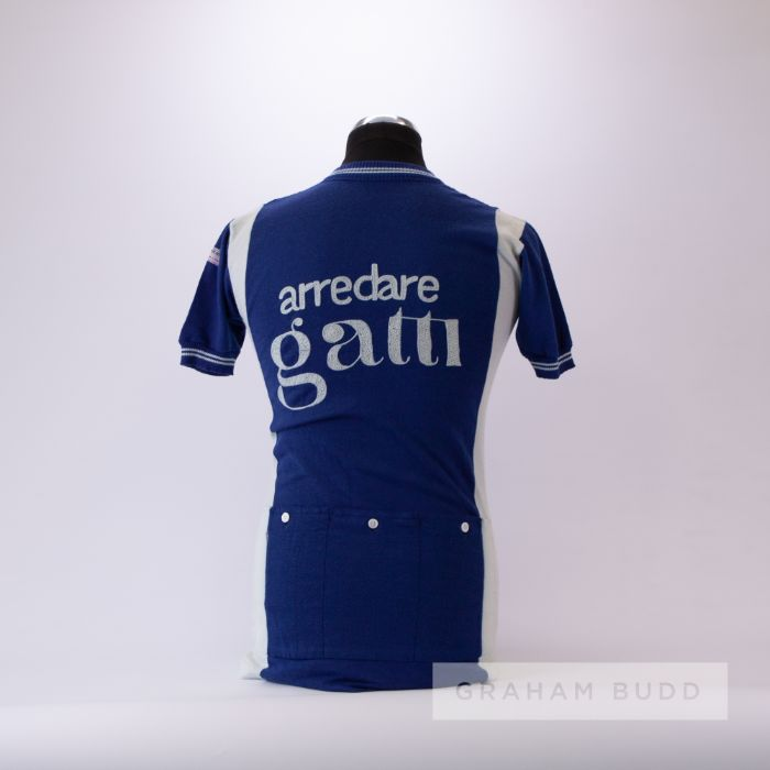 1979 blue and white vintage Italian Gianni Motta Eroica Cycling team race/tour jersey, scarce, - Image 2 of 4