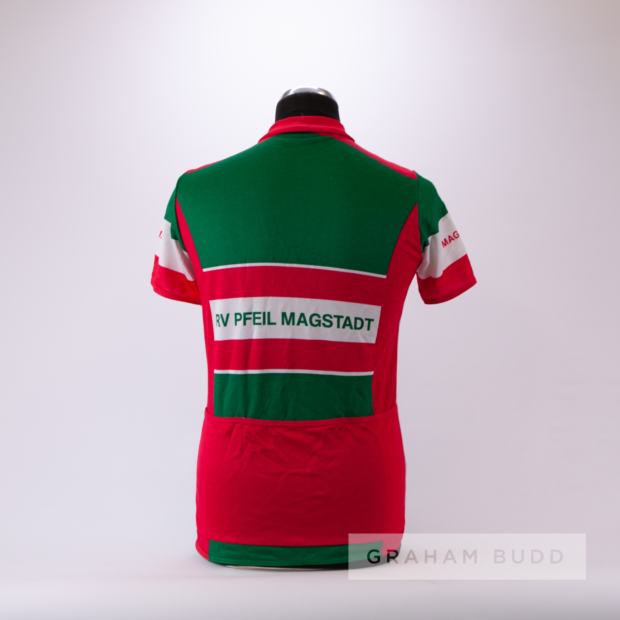 2005 green, white and pink German Gebert Sport RV Pfeil Magstadt Cycling race jersey, scarce, - Image 4 of 4