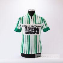 1985 white and green Italian Pedale Bresciano F.lli Zani Caseifici Cycling race jersey, scarce,