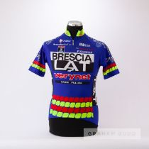 1996 blue, yellow, red and white Italian Nalini Bresica Lat Verynet Pinarello Cycling race jersey,