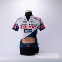 2005 white and navy Garuda Gedimat Cycling race jersey, scarce, polyester short-sleeved jersey