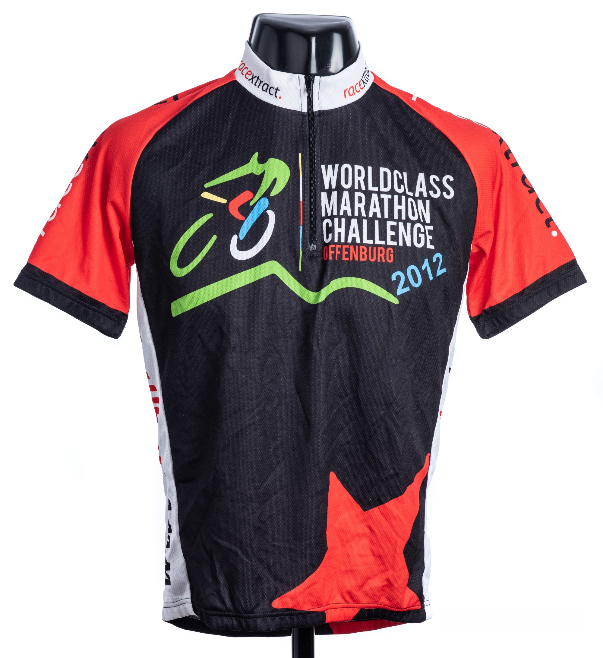 2012 black, red, white and green World Class Marathon Challenge Offenburg Race Xtract Cycling race - Image 3 of 4