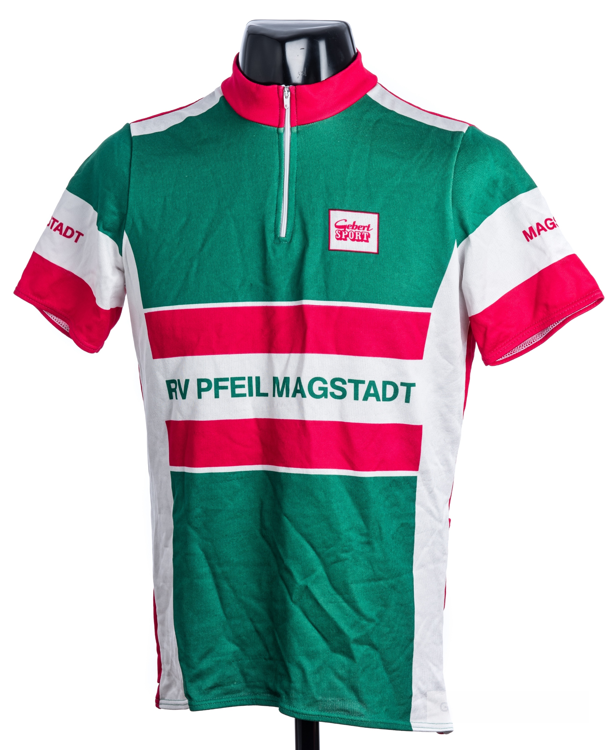2005 green, white and pink German Gebert Sport RV Pfeil Magstadt Cycling race jersey, scarce, - Image 3 of 4