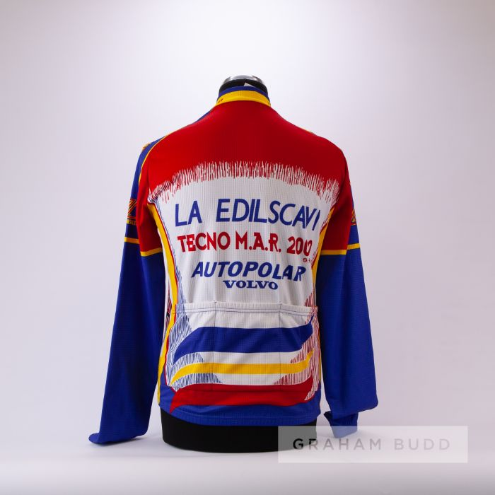 2000 red, yellow, blue and white De Marchi Cycling race jersey, scarce, polyester long-sleeved - Image 2 of 4