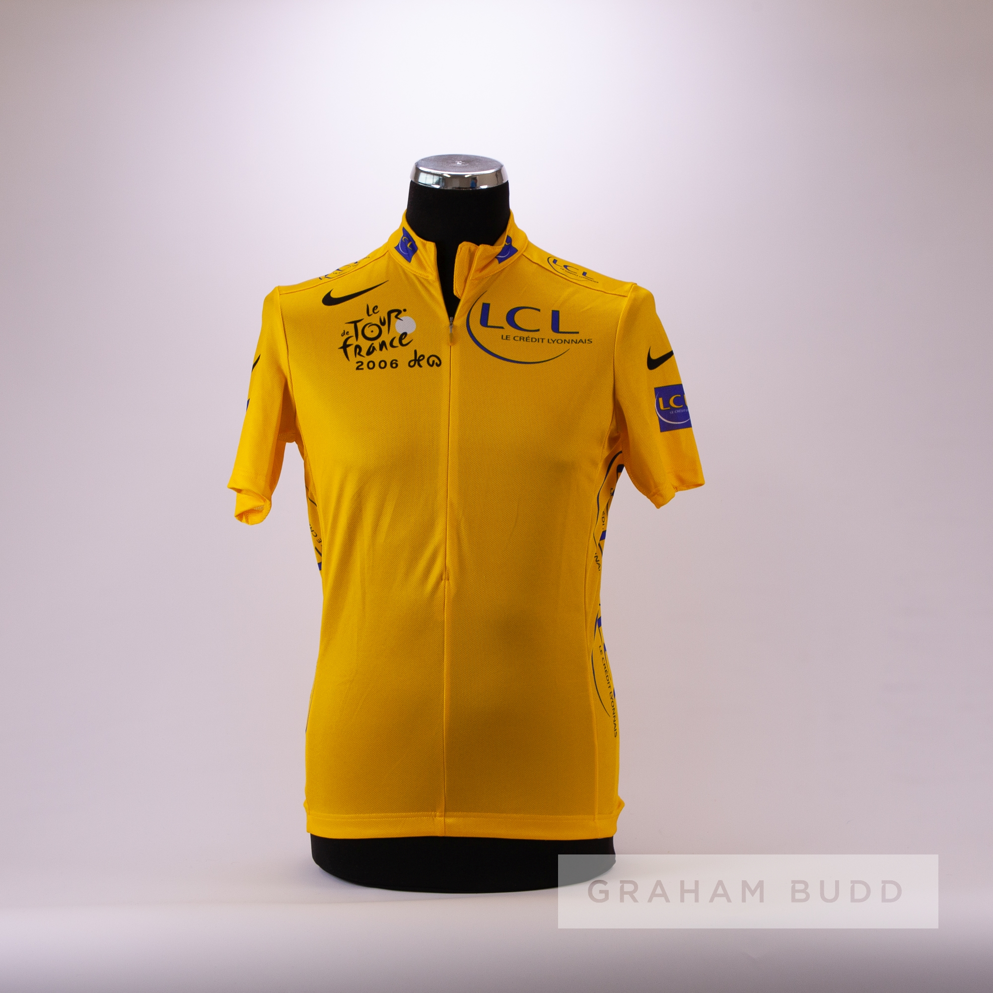 2006 yellow and blue Tour de France Nike LCL Leaders Cycling race jersey, scarce, polyester short- - Image 3 of 4