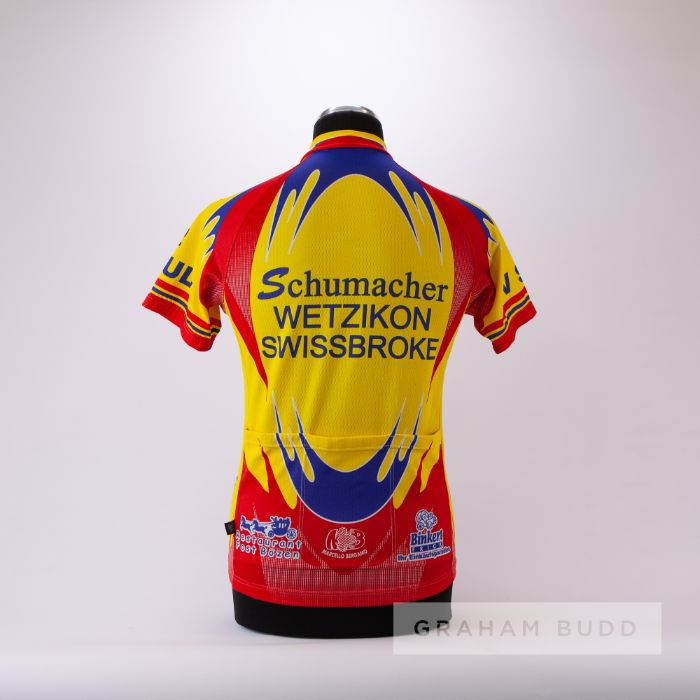 2006 yellow, red and blue WetzIkon SwissBroke Cycling race jersey in the style worn by Stefan - Image 2 of 4