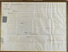 Map of the Hundreds of Loningborough & Folkestone plus two old legal documents