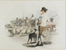 Payne, William H - Hand coloured aquatint entitled 'Smithfield Drover', early 19th century