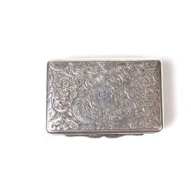 A George IV parcel gilt silver vinaigrette, early 19th century