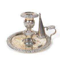 A George III silver chamberstick