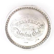 A Victorian Scottish silver Bowling Club medal