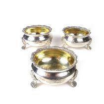 Three George IV silver salts