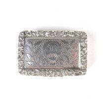 An early Victorian silver vinaigrette