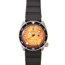 Seiko stainless steel automatic diver's watch.