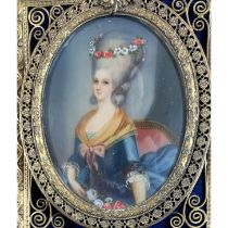 Vallayer-Coster, Anne 1744-1816 French, Portrait of Marie Antoinette.
