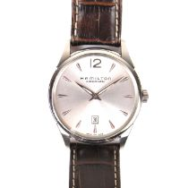 Hamilton Jazzmaster stainless steel automatic watch.