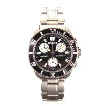 Tissot stainless steel quartz chronograph watch.
