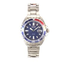 Citizen Eco-Drive WR200 stainless steel watch.