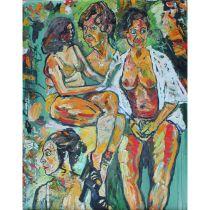 Bratby, John Randall 1928-1992 British AR Group of Women.