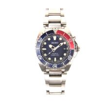 Seiko stainless steel kinetic diver's watch.