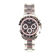 Rotary stainless steel quartz chronograph watch.
