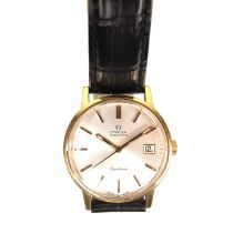 Omega Genève gold plated automatic watch.