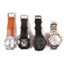 Collection of four watches.