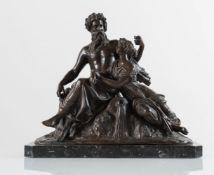 """Scultura in bronzo """"Due figure mitologiche"""", XIX-XX secolo."""