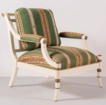 """Alessandro Gioia per Colony, Poltrona in legno """"Royal"""", Anni '80."""